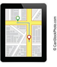 navigation, business, tablette