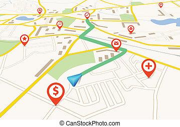 navigation, carte