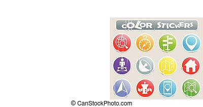 navigation color stickers