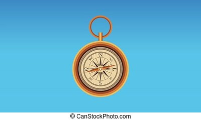 Navigation compass and travel HD animation - Navigation...