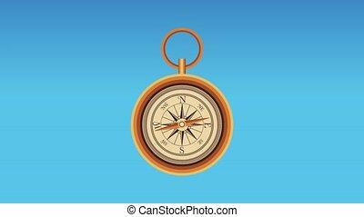 Navigation compass and travel HD animation - Navigation...