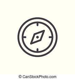 Navigation compass line icon