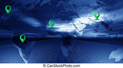 Navigation Concept Background