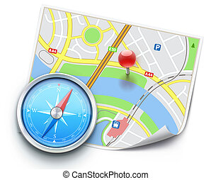 Navigation concept - Vector illustration of navigation ...