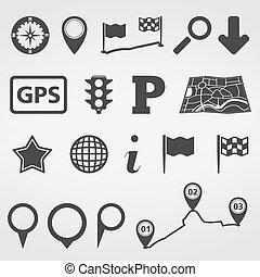 Navigation Design Elements - Set of navigation design...