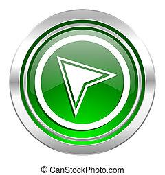 navigation icon, green button