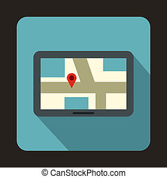 Navigation icon in flat style