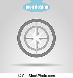 Navigation icon on a gray background. Vector illustration
