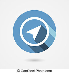 navigation icon - vector flat navigation arrow icon in...