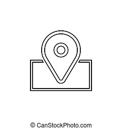 navigation icon - vector map marker icon