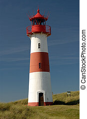 Navigation - Lighthouse from the island sylt, germany.