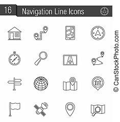 Navigation Line Icons