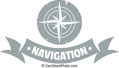 Navigation logo, simple gray style