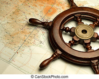 navigation map - helm and nautical map, useful for various...