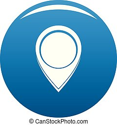 Navigation mark icon blue vector