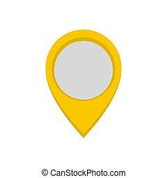 Navigation mark icon, flat style.
