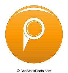 Navigation pin icon orange