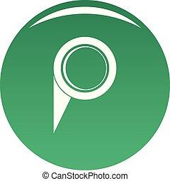 Navigation pin icon vector green