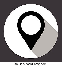 Navigation Pin Web Gps Application Icon