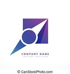 navigation pointer business logo design illustration