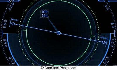 navigation, radar, écran visualisation, gps