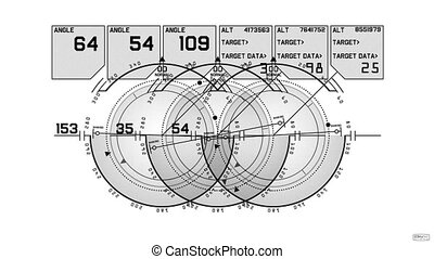 navigation, radar, logiciel, high-tech, jeu, informatique, exposer, écran, gps, interface