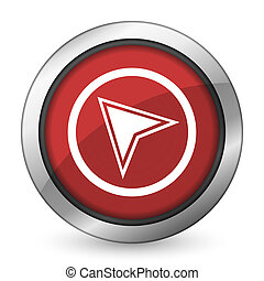 navigation red icon