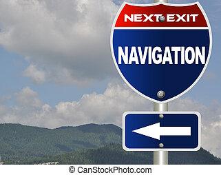 Navigation road sign