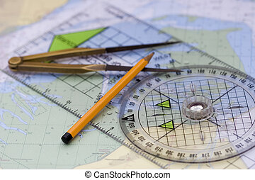 navigation - equipment for navagate a boat