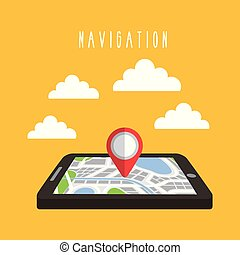 navigation tablet technology gps clouds