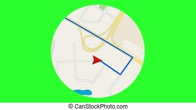 navigation, tracking., concept., gps
