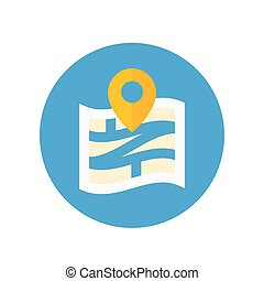 Navigation vector icon in flat style
