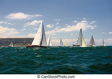 navigation yacht, race.