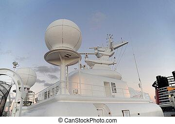 Cruise ship modern navigational equipment