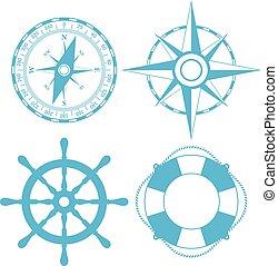 Navigatoin maritime vector icon