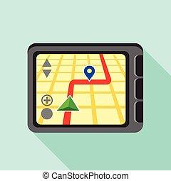 Navigator, icon, flat style