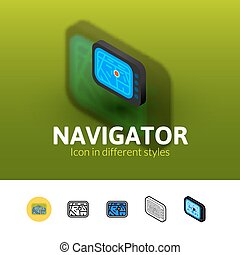 Navigator icon in different style