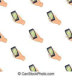 Navigator in the golf course phone. Golf club single icon in cartoon style vector symbol stock illustration web.
