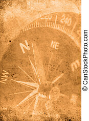 Navigator - Retro look of compass showing the way to north
