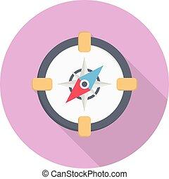 navigator vector flat colour icon