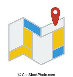 navigazione, mappa, icona