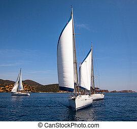 navigazione, regatta.