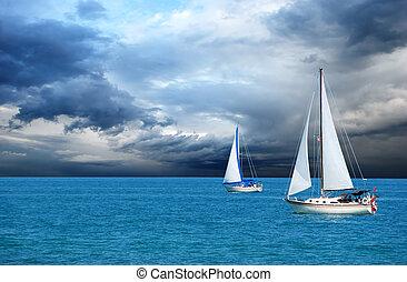 navigazione, tempesta, secondo