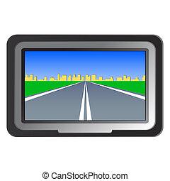 navigazione, vettore, -, illustrazione, gps