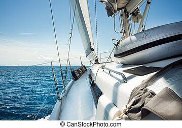 navigazione, yachting, concept., viaggiare, yacht., lusso,...
