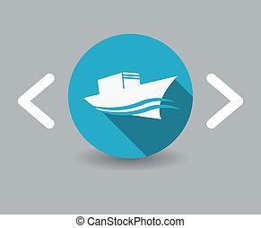 navio, ícone