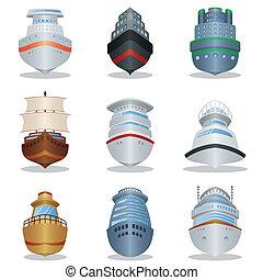 navio, ícones