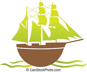 navio, antigas