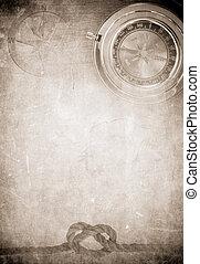 navio, corda, ligado, antigas, papel, pergaminho, fundo