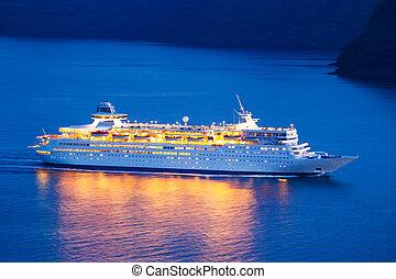 navio, cruzeiro luxo